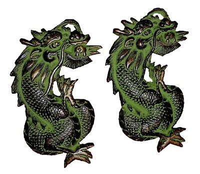 Dragon Shape Antique Vintage Finish Handmade Solid Brass Door Handles Home Decor