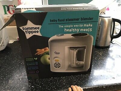 Tommee Tippee Automatic Timer Baby Food Steamer Blender Healthy Meals