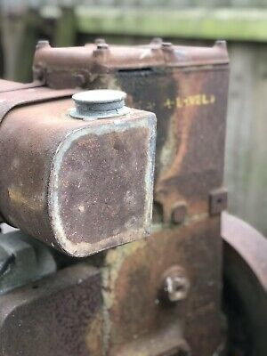 Vintage Lister stationary engine in original condition barn find
