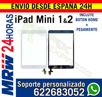 Pantalla Tactil para Ipad Mini 1 2 IC CHIP BLANCA + Flex Boton Home BLANCA