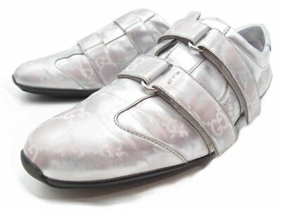 c9a96f2a7cf Baskets Gucci Femme Cuir Argent Eur 39 1/2 Sneakers Leather Silver Woman  Shoes