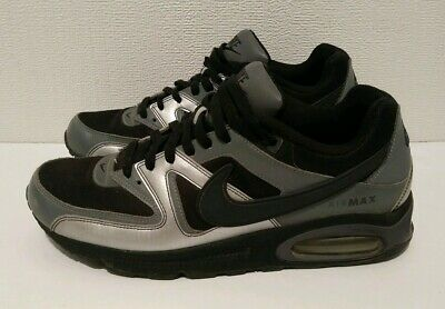 NIKE AIR MAX Command Shoes Mens US SIZE 10 Metallic Silver Black Gray 397689 004
