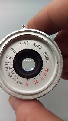 + Vintage LOMO TRIPLET T-43 4/40 LOMOGRAPHY Lens for Smena 8M Camera ! WORKING !
