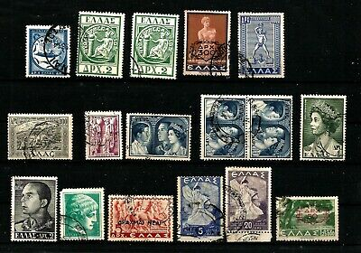 Greece 1943 to 1956 collection inc 1954 Early Issue Fine Used  20000 dr