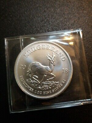 2018 South Africa Krugerrand 1 Oz .999 Fine Silver Coin Bu