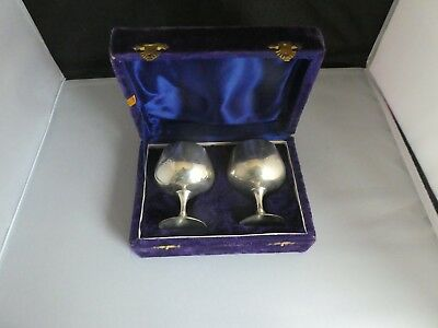 Silver Plated Brandy Goblets