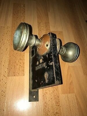 Vintage Antique Ramapo Entry Door Lock No Key Knob Doorknob