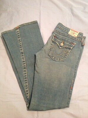 ee4647bfd AUTH TRUE RELIGION Joey Made In USA Twisted Seam Flare Jeans Size 27 ...