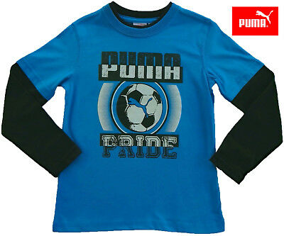 NWT PUMA Toddler Boys Blue & Black Long Sleeve Layered Top(Size 4T) NEW