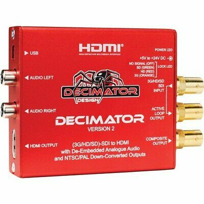 Decimator 2 3G/HD/SD-SDI to HDMI Converter ith Built-In NTSC/PAL Downscaler