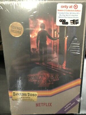 NEW Stranger Things Season 2 Target Exclusive VHS Collector 4K Ultra HD Blu Ray