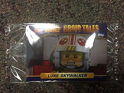 Set of 3 Topps Lego Star Wars: Droid Tales Promo Trading Cards LUKE, C-3PO