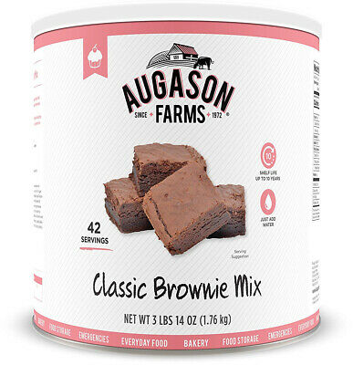 Classic Chocolate Brownie Mix 3lbs 14oz No. 10 Can, Augason Farms