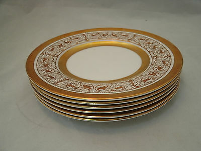"Royal Chelsea MIDAS Set of 6-6 1/2"" Bread Dessert Plates Bone China England EUC"