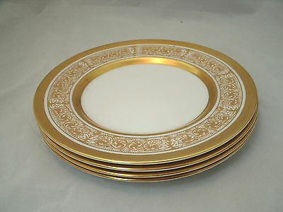 "Royal Chelsea MIDAS Set of 4-8 1/4"" Salad Plates Bone China Made in England EUC"