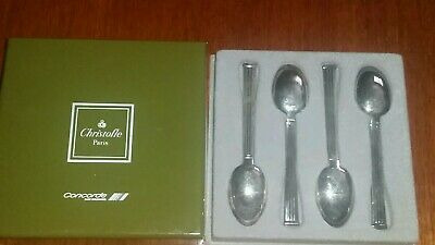 Christofle Concorde boxed set of 4 art deco teaspoons