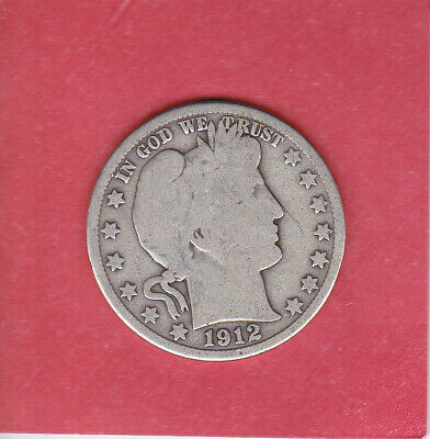 1912 S Barber Half Dollar Philadelphia Mint 90% Silver ( 1892-1915 ) 50 Cent