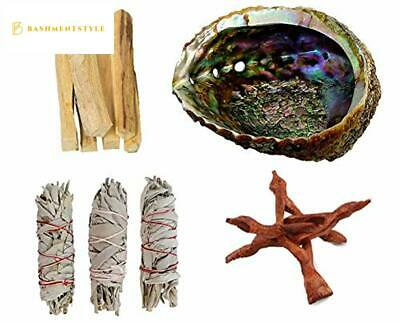 Clarity Muse Sage Smudge Stick Kit - White Sage Bundles, Palo Santo Sticks, Ab