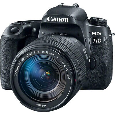 Canon EOS 77D Digital SLR Camera with 18-135mm Lens