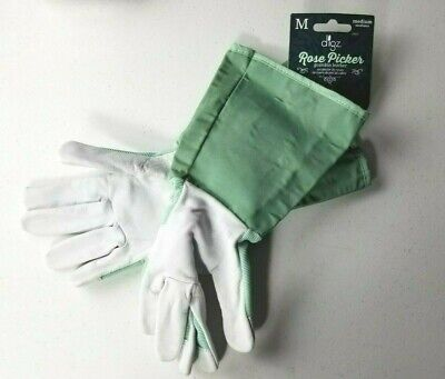 9c7a26287 NWT Women's Goatskin Leather Gardening Gloves Digz Rose Pickers Medium M NEW