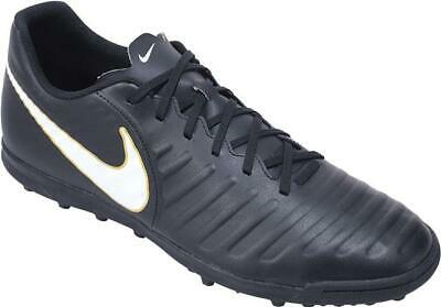 new product 78e58 31cd2 Nike Tiempo X Rio Artificial-Turf Chaussures de Foot Noir/Blanc Big Homme UK