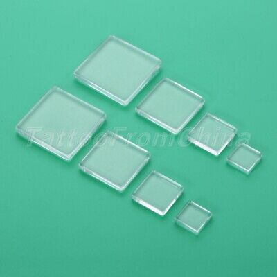 4 Size Both Side Flat Square Clear Glass Cabochon Scrapbooking Jewellery Making