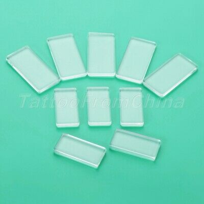 5pcs Both Side Flat Rectangle Clear Glass Cabochon Scrapbooking Jewellery Making