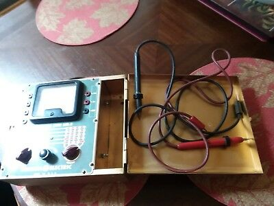 Vintage Metal Case General Electric Unimeter Type UM-3 with Probes.