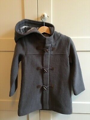 Purebaby size 3 duffel coat with hood - Hazelnut colour