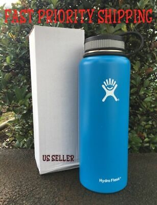 a0ec18ad50 40oz NWB Sky Blue Wide Mouth Hydro Flask Insulated Stainless Steel Water  Bottle