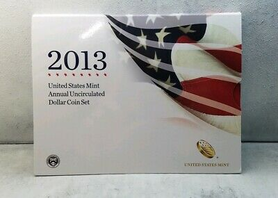2013 United States Mint Annual Uncirculated Dollar Coin Set - SAE Included!
