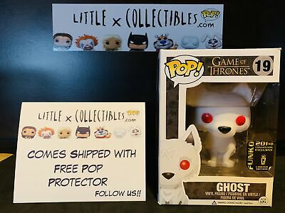 Funko Pop Ghost Flocked #19 Game of Thrones Vaulted w/ Hard Stack