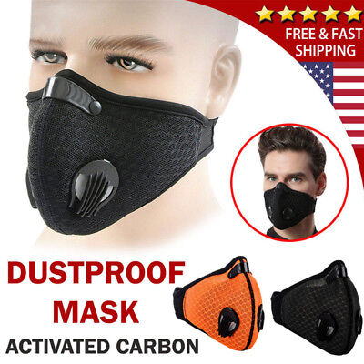 Black Anti Smoke Air Filter Dust Face Mask Outdoor DustProof Filter multi layer