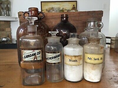 Group Of Apothecary Bottles And Jars