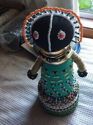 3 Vintage African Ndebele Fertility Dolls with fine bead work South Africa