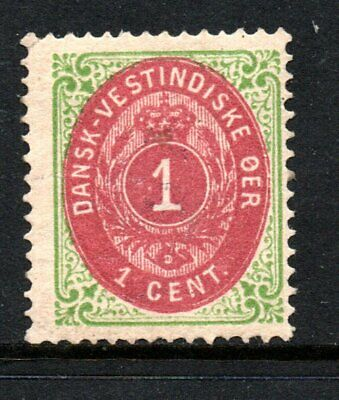 Danish West indies 1873-1902 1c Frame Inverted mounted mint Sg 8a cat £750