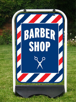 Barber Shop Sign Barbers Pole Pavement Shop Sign Haircut Sign Incl. Free Print