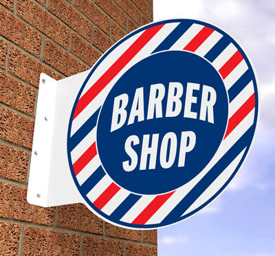 Barbers Pole Sign Barber Shop Hair Salon Sign Projecting Wall Sign Mens Hair