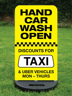 Hand Car Wash Sign Pavement Sign Car Valeting Sign Printed With Your Detail Free