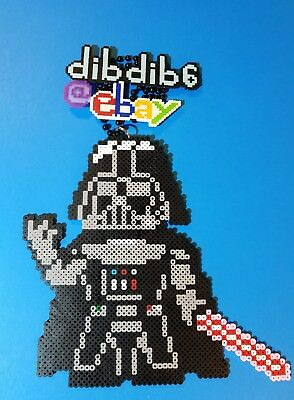 Darth Vader Cookie Pixel Art 8 Bit Perler Beads Magnet