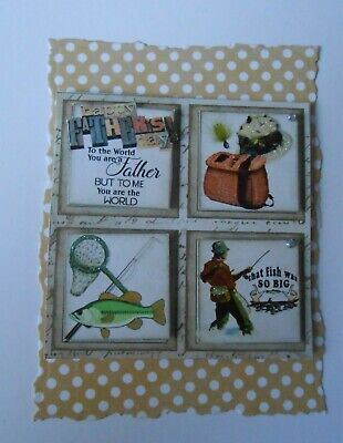 PK 2 BLUE /& WHITE FATHERS DAY TEDDY EMBELLISHMENT TOPPERS FOR CARDS AND CRAFTS