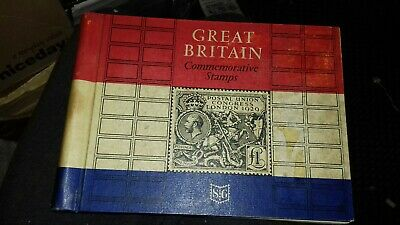 Great Britain Commemorative Stamps Stanley Gibbons Album 1967 sparsly filled