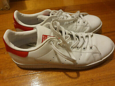 mens adidas originals stan smith white red shoes sneakers size US 10