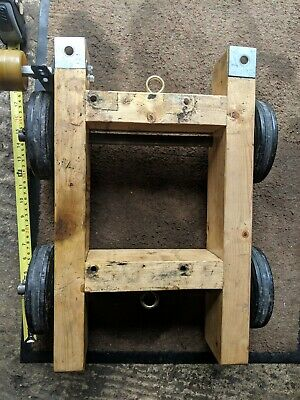 Wooden stationary engine trolley