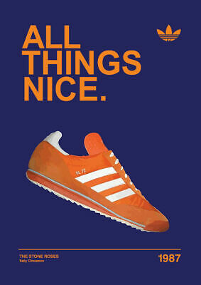 All things nice 1987 ADIDAS CASUALS CLASSIC TRAINERS Avertisements Posters