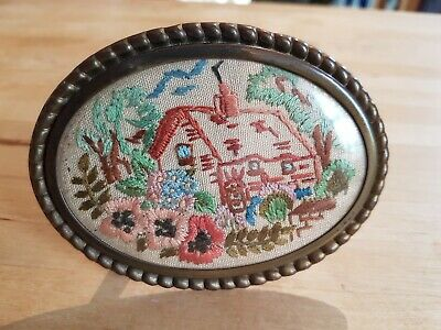 Vintage hand embroidered picture