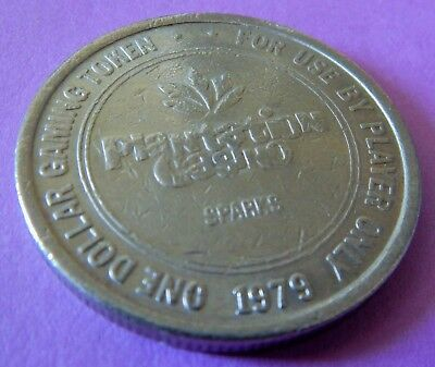 PLANTATION CASINO SPARKS NV 1979 $1 One Dollar Gaming Token Collectible Item