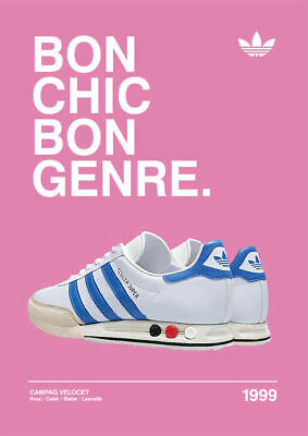 A3/A4 - Bon Chick 1999 ADIDAS CASUALS CLASSIC TRAINERS Avertisements Posters