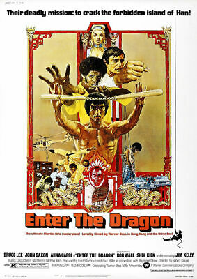 A3/A4 - Bruce Lee Enter The Dragon Film Kung Fu Art Wall Posters