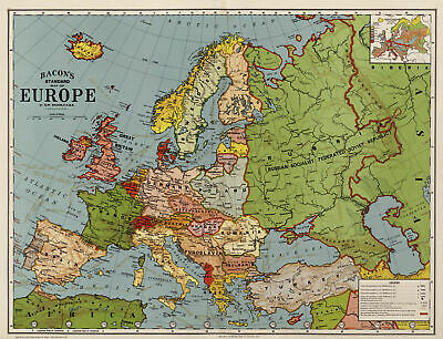 A3/A4 - Europe 1920 Map Wall Art Posters